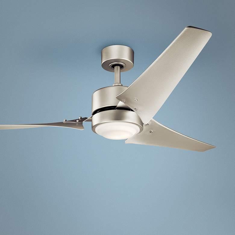 60 Kichler Rana Brushed Nickel Led Outdoor Ceiling Fan 36v35 Lamps Plus Ceiling Fan Outdoor Ceiling Fans Hugger Ceiling Fan Brushed nickel outdoor ceiling fan