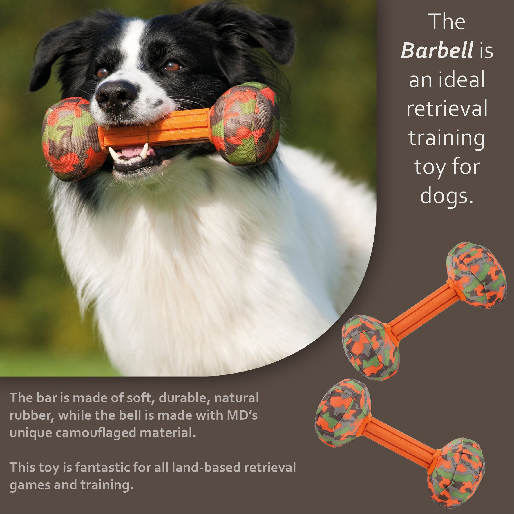 The Barbell By Major Dog Majordog Dogs Dogtoys Bordercollie
