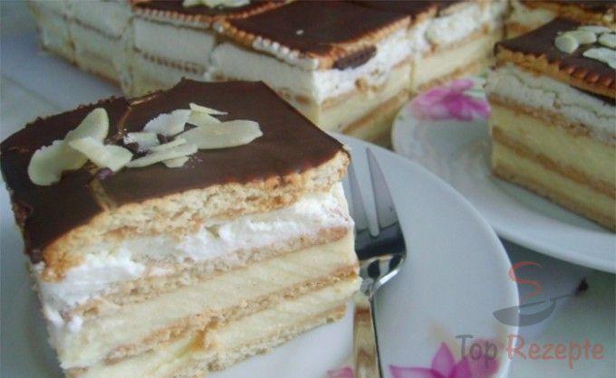 Pudding-Kekskuchen ohne Backen #czechrecipes