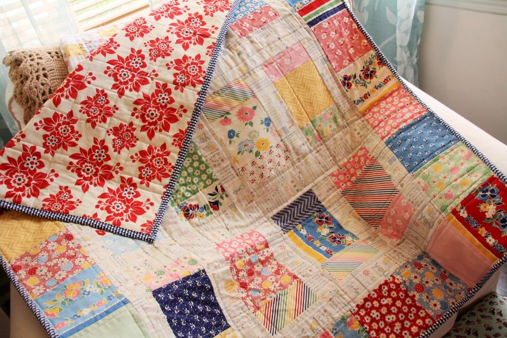 Charm Box Quilt - link to free PDF pattern from Fat Quarter Shop