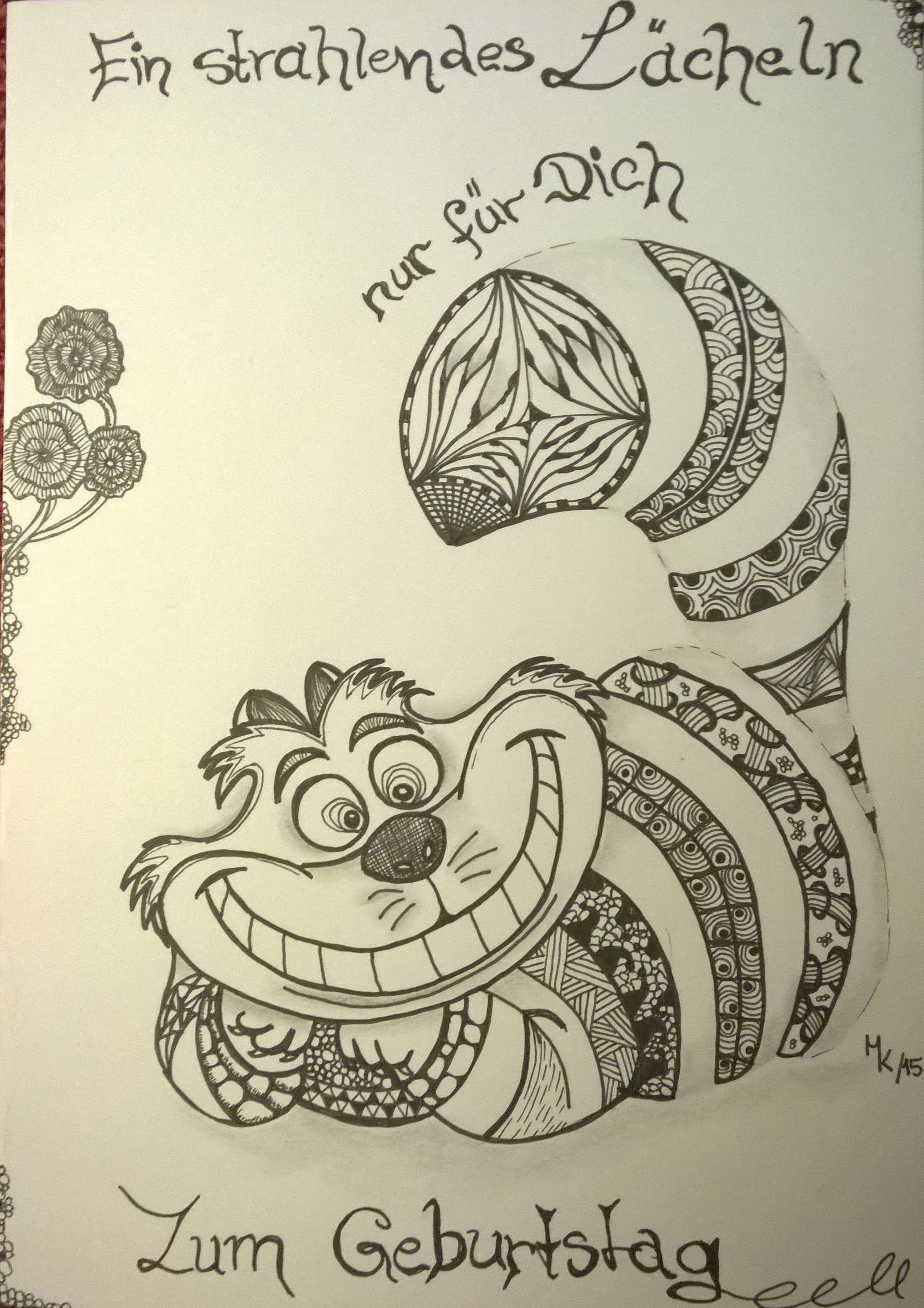 Grinsekatze Grinsekatze Tattoo Grinsekatze Und Kritzel Zeichnungen