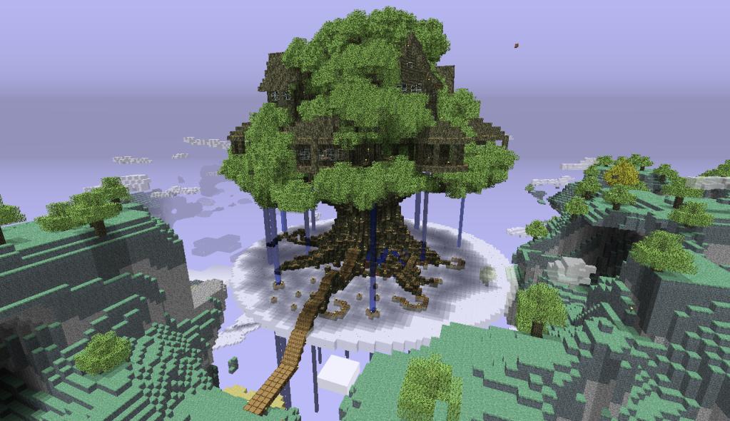 minecraft treehouse schematic  | pinterest.com