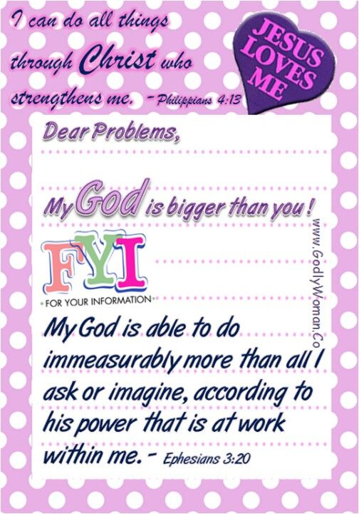My God is bigger