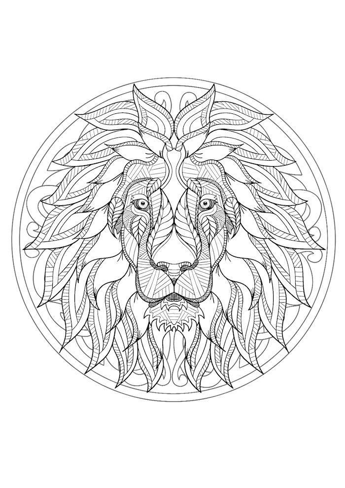 99 Neu Coole Ausmalbilder Zum Ausdrucken Stock Coole Ausmalbilder Ausmalen Mandala Tiere