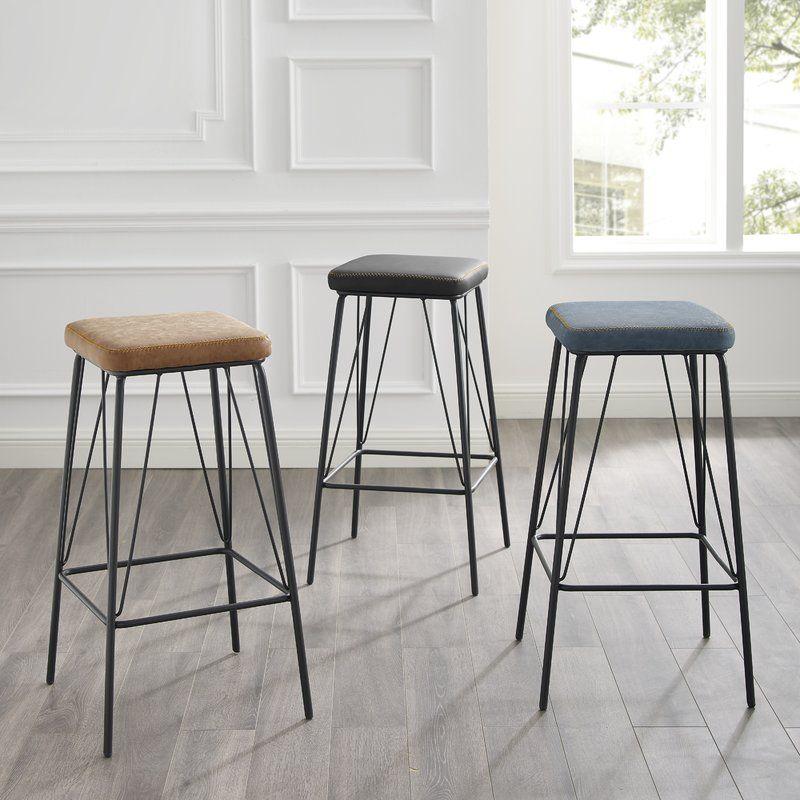 Union Rustic Sexton 30 Bar Stool Reviews Wayfair Bar Stools Leather Counter Stools Furniture