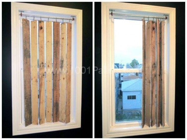 DIY Pallet Wood Vertical Blinds   1001 Pallets