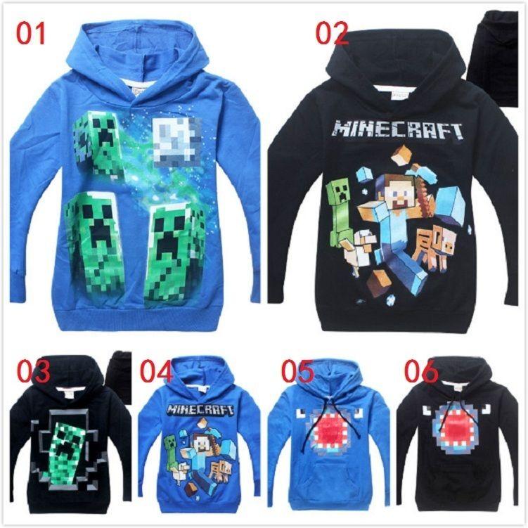 6 styles minecraft hoodie jacket outwearyupoo makeup
