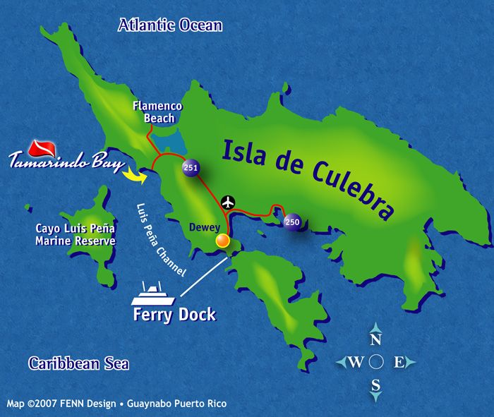 Puerto Rico Map Of CULEBRA ISLAND Detail Puerto Ricans Like To - Map of puerto rico caribbean islands