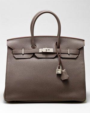 7088dd075ff9 Hermes Grey Togo Leather Birkin 35cm