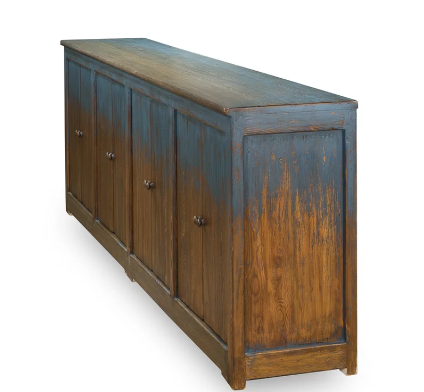 122 Wide Pine Wood Sideboard Pine Wood Sideboard Blue Sideboards Accent Doors