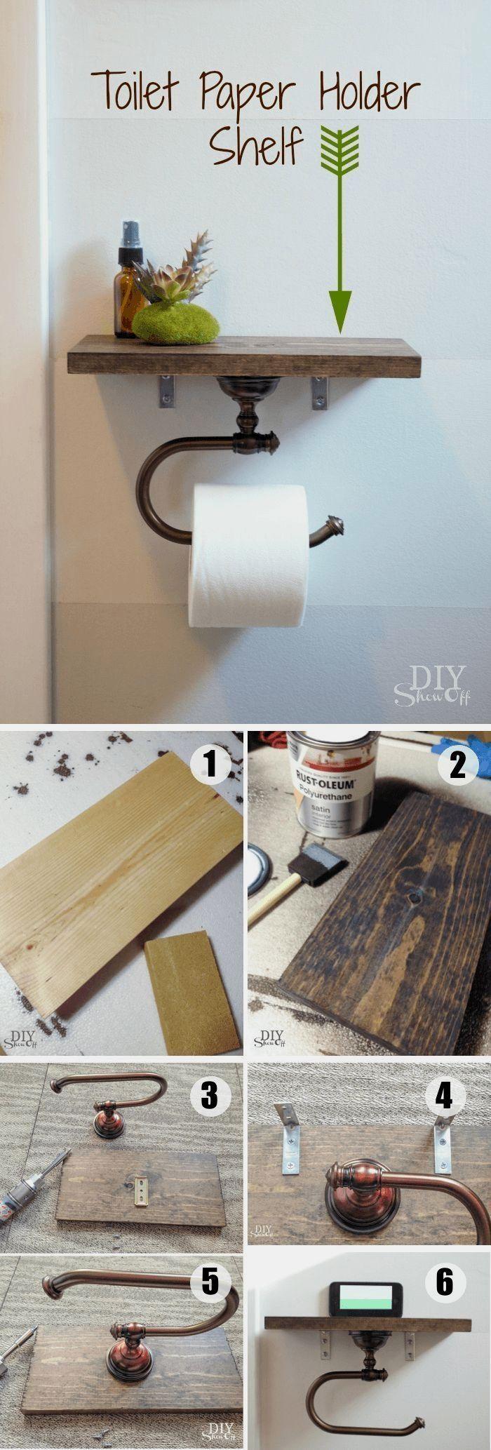 Diy Bathroom Decor Ideas In 2020 Diy Toilet Paper Holder Toilet Paper Holder Diy Toilet