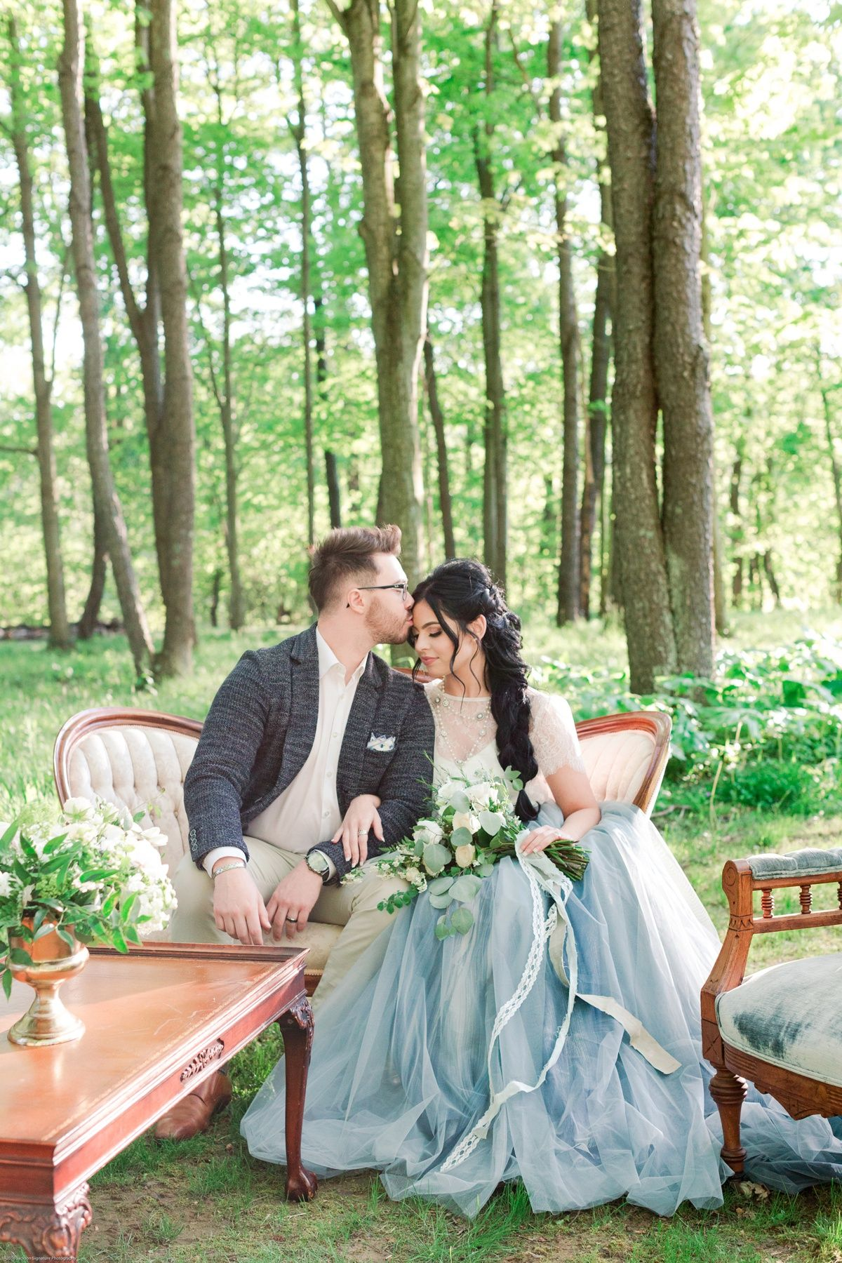 Fresh Garden Party Wedding Inspiration Forest Inspired Wedding Forest Wedding Wedding Inspiration