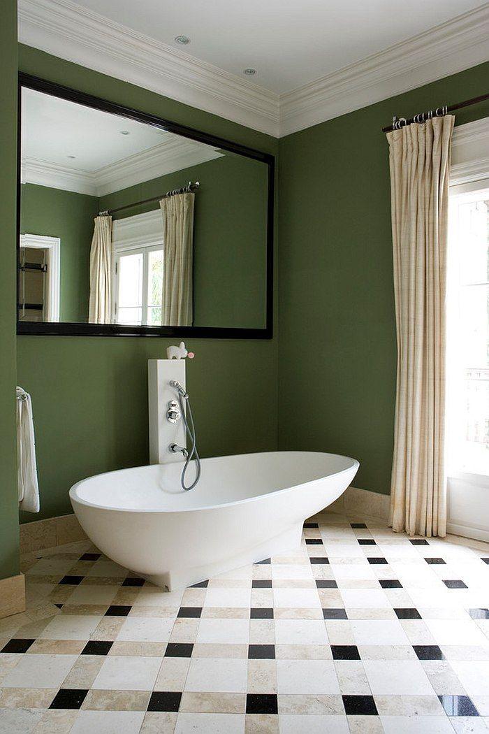 id es d coration pour une salle de bain verte ideesdeco. Black Bedroom Furniture Sets. Home Design Ideas