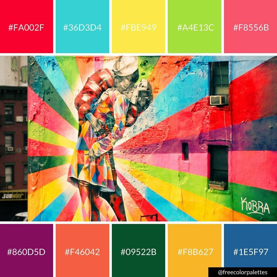 Bold Bright Street Art Color Palette Inspiration Digital Art