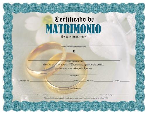 Acta De Matrimonio Catolico : Certificado de matrimonio para imprimir gratis …