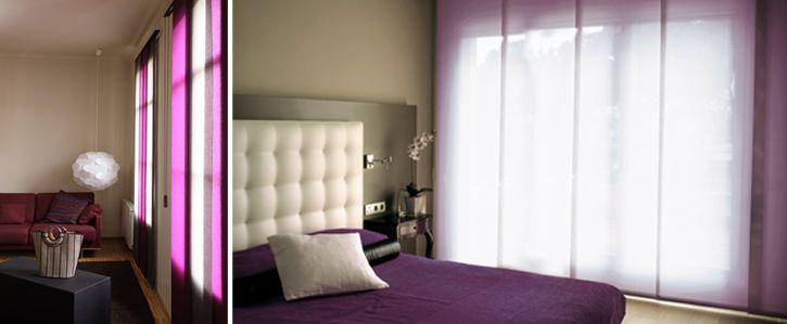 Paneles japoneses para separar ambientes creando un espacio nico en la habitaci n separando - Paneles para separar espacios ...