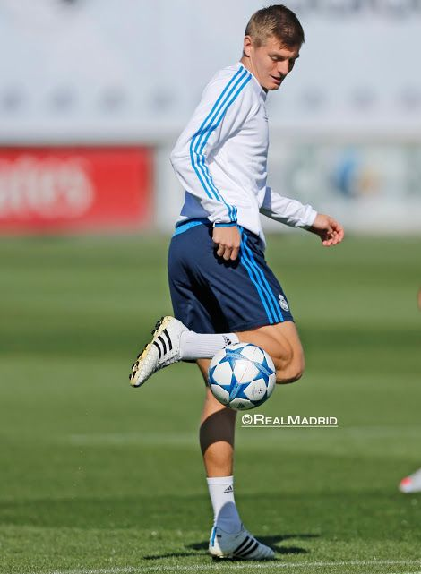 Toni Kroos. Champions League training session.
