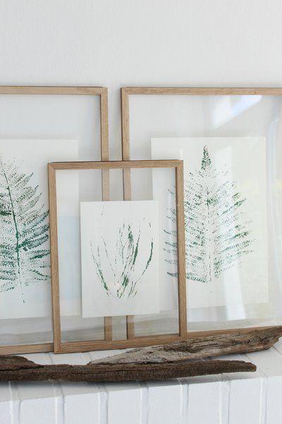 Pflanzendrucke zum Selbermachen und Aufhängen Inspiration, Oder