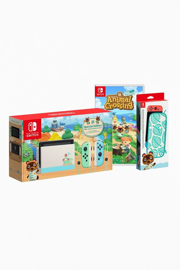 Nintendo Switch Console Animal Crossing New Horizons And Case
