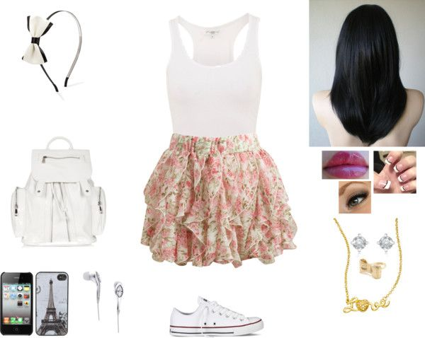 """DF// 1° Dia de Aula - Asheley"" by juhstyles69 ❤ liked on Polyvore"