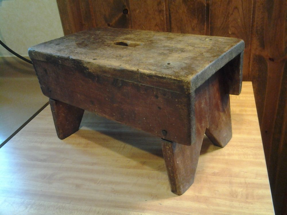 Enjoyable Old Antique Primitive Wood Milking Stool From Old Time Farm Pabps2019 Chair Design Images Pabps2019Com