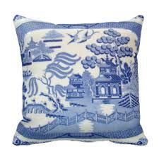 Blue Willow Pillow - The