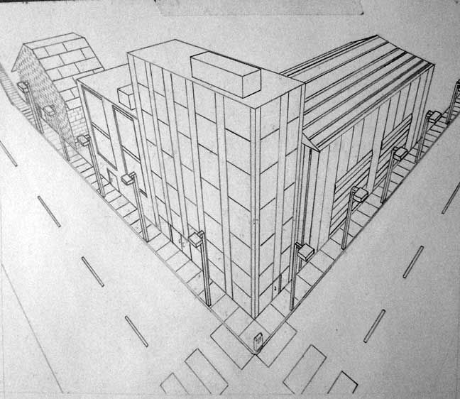 Architecture Design Drawing Techniques msbrown-drawing-chrhs - perspective drawing examples | two point