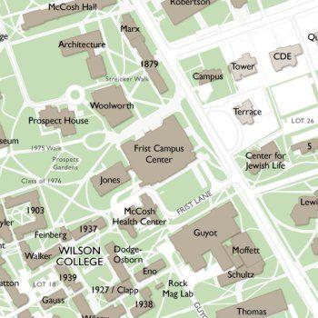 Princeton Campus Map Campus Wayfinding Higher Education