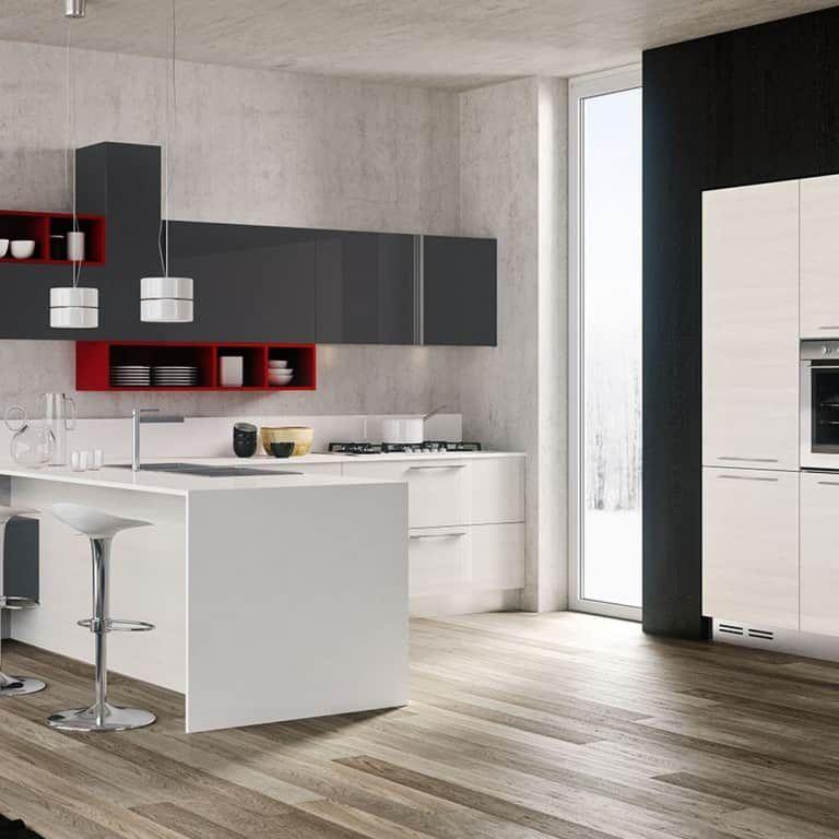 Cucine Moderne Con Penisola A Padova Trova La Tua Cucina Con Penisola Da Arredamenti Meneghello Cucine Grigio Bianco Cucine Moderne Arredo Interni Cucina
