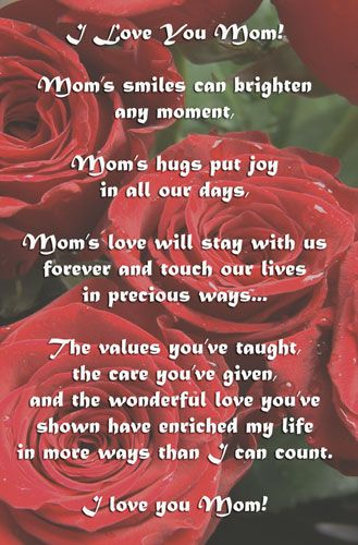 pics of i love you mom poems for mothers day free mothers day ecards