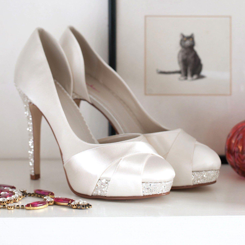 160 Brautschuhe Rainbow Club /Christy/ Satin, High Heels: Amazon.de: Schuhe & Handtaschen