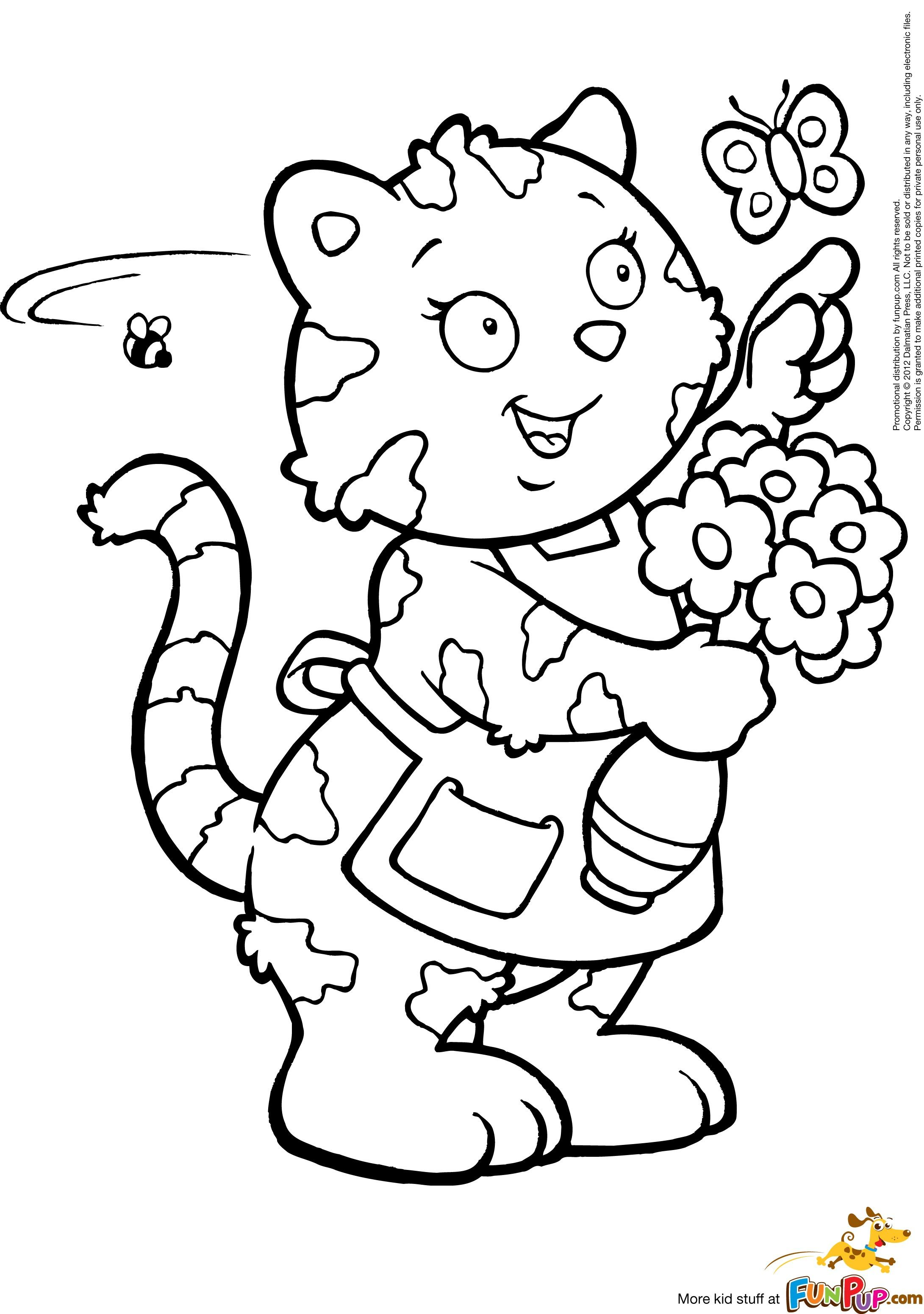 Kitty holding vase adult coloring pages pinterest kitty