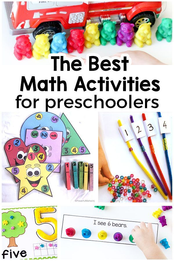 Preschool Math Activities That Are Super Fun Math Activities