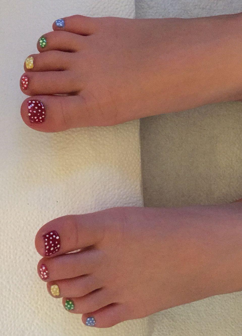 Easy Summer Toenail Design For Little Girls Kids Nail Designs Cute Toe Nails Little Girl Nails