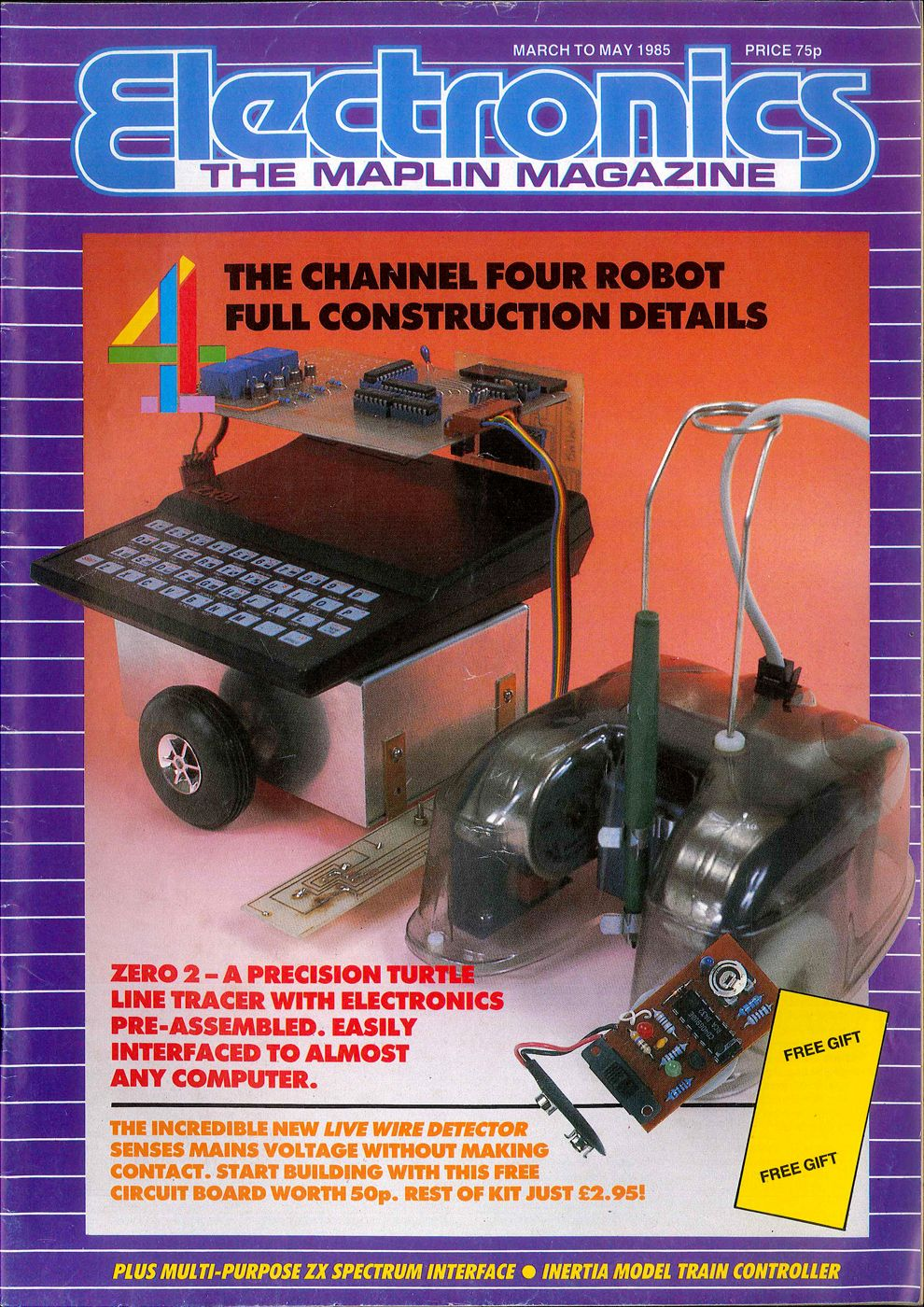 Electronics The Maplin Magazine Mar 1985 C4 Channel 4 Four Robot Live Circuit Tracer Zx81 Zero 2