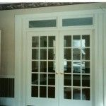 French doors with transoms
