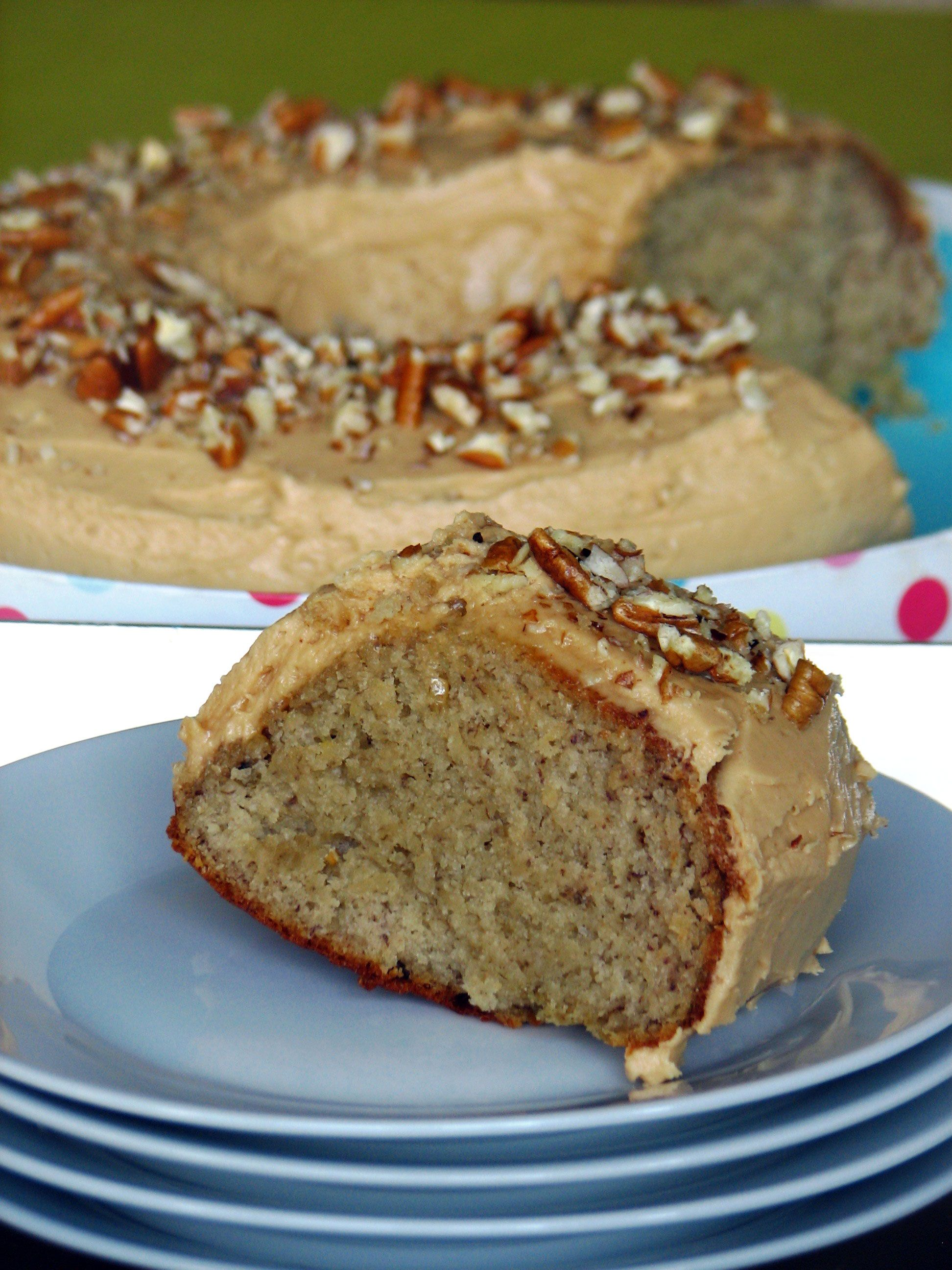 Banana Cake with Peanut Butter Icing #dessert #recipe
