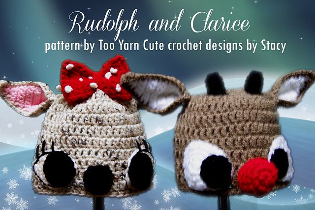 f6c563e65 Clarice the Reindeer Beanie pattern by Too Yarn Cute | Knit 2 ...