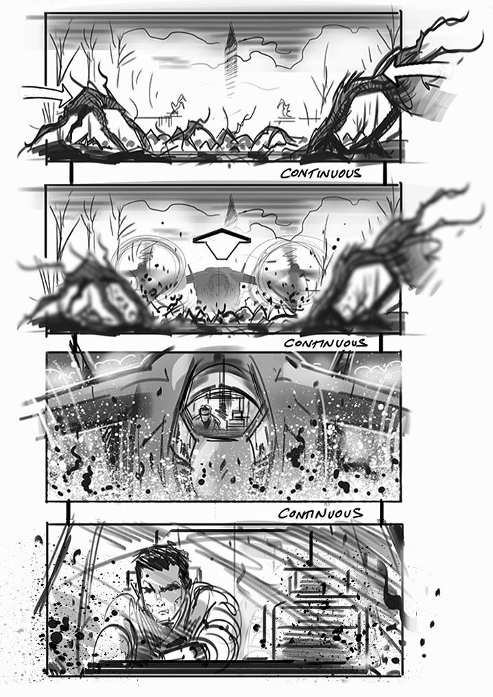 Youu0027ll Die For These EDGE OF TOMORROW Storyboards By David Allcock « Film  Sketchr