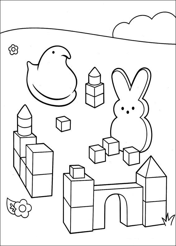 Dibujos Para Colorear Marshmallow Peeps 2 Malvorlage Hase Malvorlagen Kinderfarben
