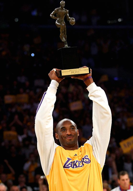 Kobe Bryant Los Angeles Lakers NBA Most Valuable Player MVP Award