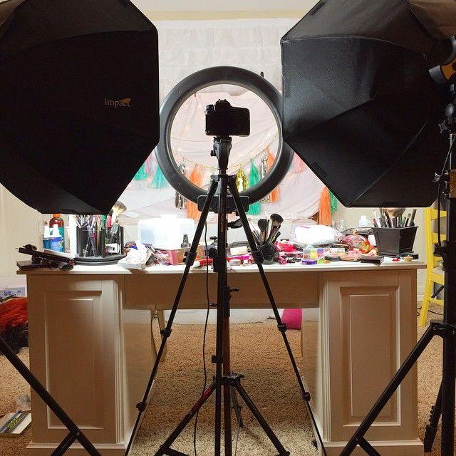 Filming....my Beautiful Mess. Lights: Impact