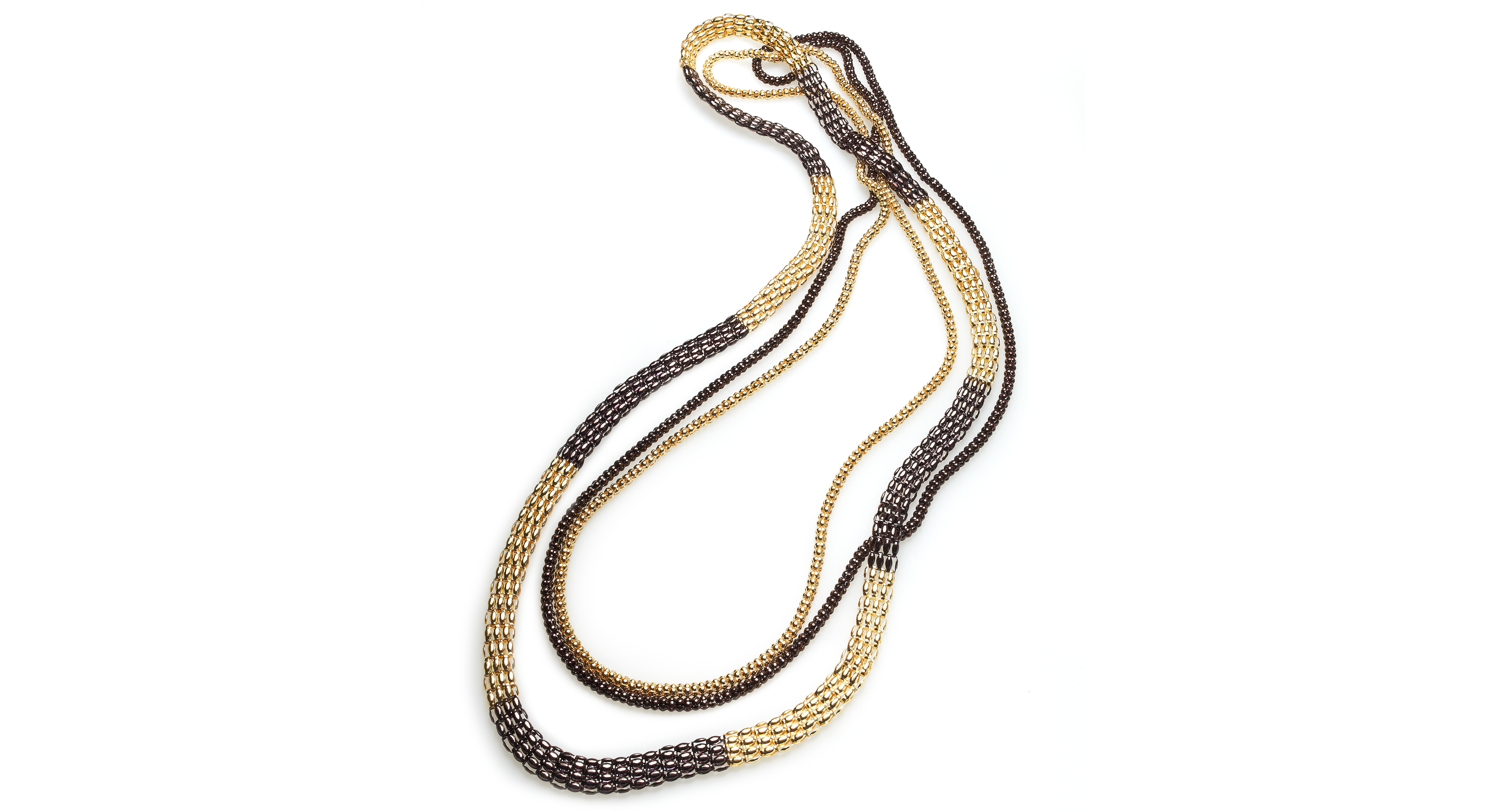 Style&co. Necklace, Gold and Bronze-Tone Multi-Chain Necklace