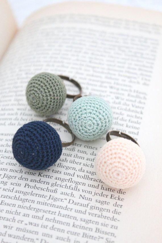 Crochet ring | crochet / ganchillo | Pinterest | Anillos, Ganchillo ...