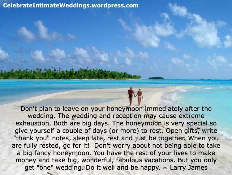 Brides & Grooms! Here is another Wedding Tip! ~ 90+ more FREE tips @ http://www.celebrateintimateweddings.com/tips.html