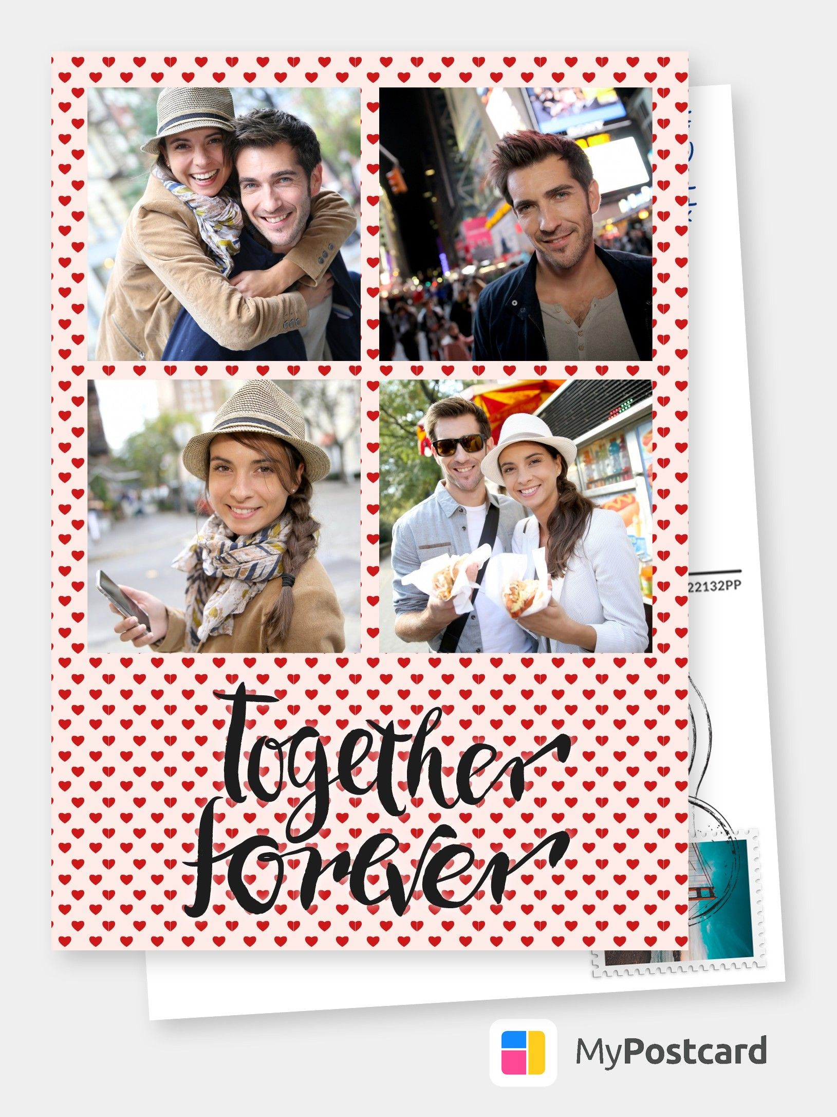Make Your Own I Love You Photo Cards Online Free Printable Templates Printed Mailed For You Photo Cards Postcards Photo Greeting Cards Online Printed Cards For