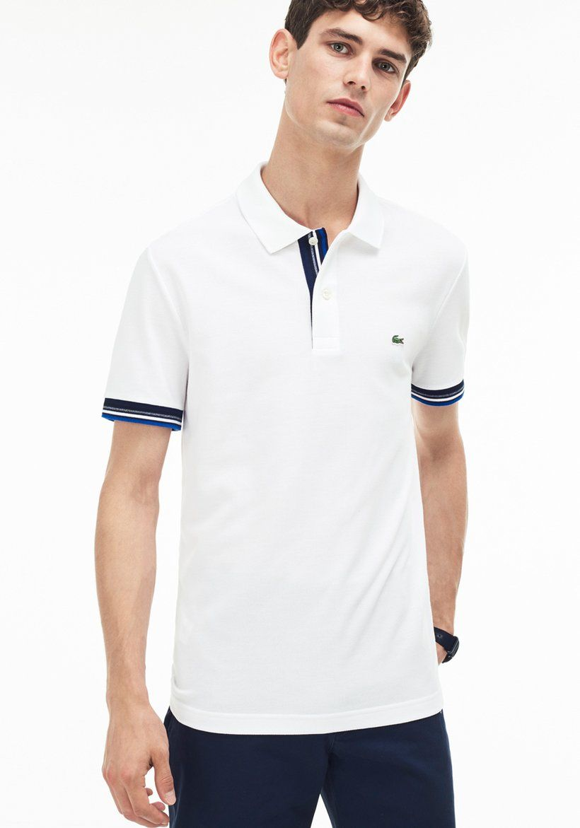 215fa200980a Lacoste - slim fit piped two-ply cotton petit piqué polo in 2018 ...