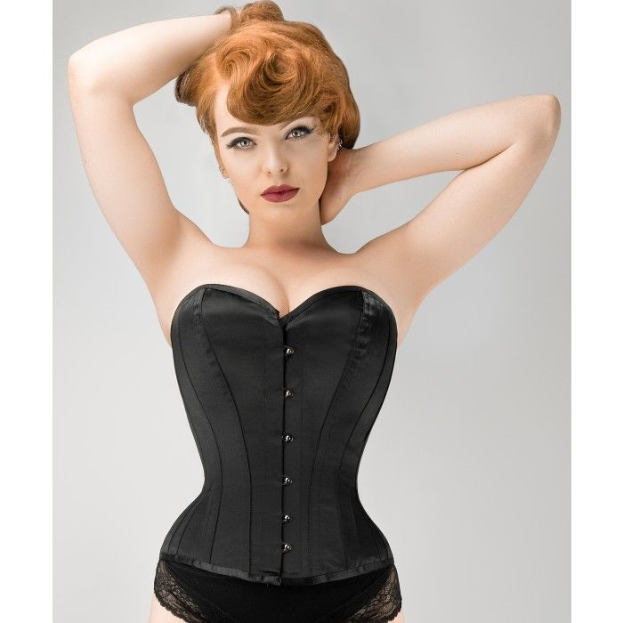 95a08e8877 Waist Taming Classic Black Overbust Corset With Hip Gores - 20 ...