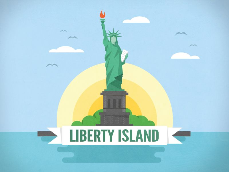 Quick illustration of the famous Liberty Island. Maybe I can create a series out of it. Check out more of my work: https://dribbble.com/SebJung92