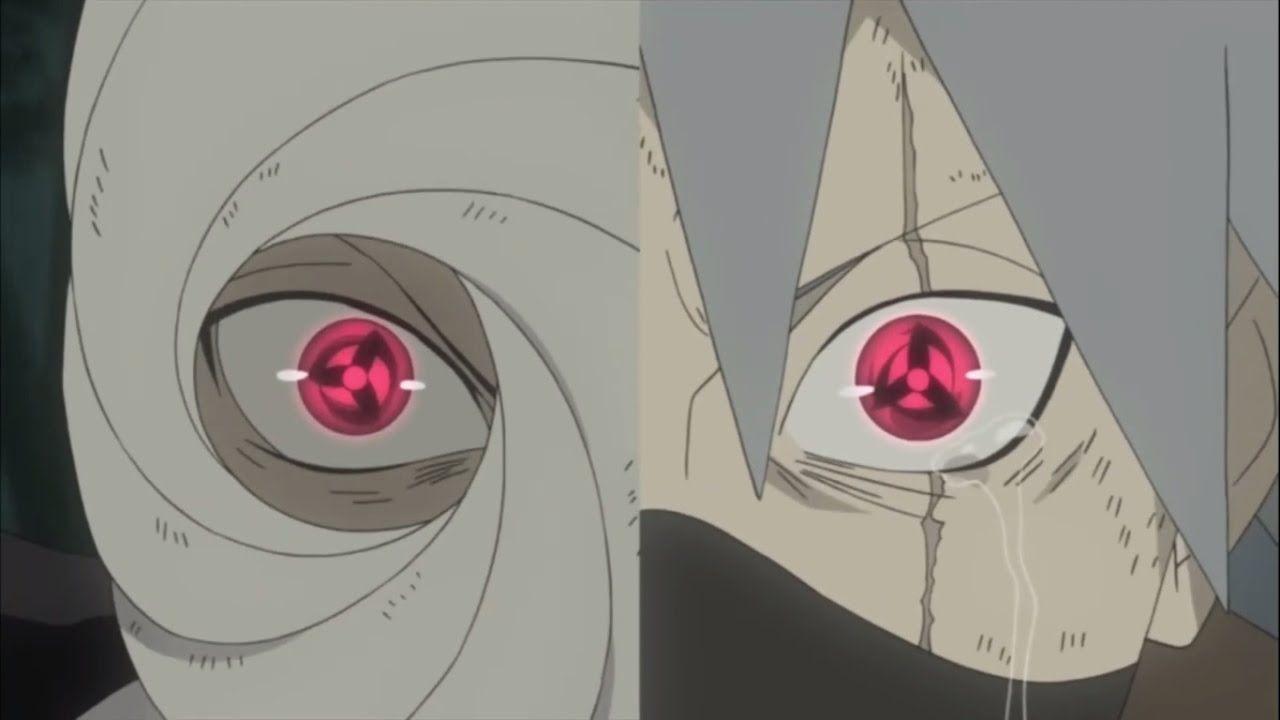 Obito Kakashi Awakening Mangekyō Sharingan For First Time English Dubbed Hd Youtube Anime Mangekyou Sharingan Anime Naruto